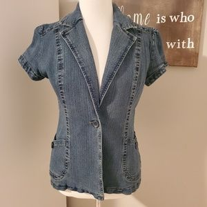 Short Sleeved Denim Jacket